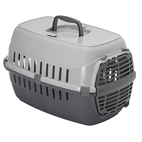 Heritage Skippa-Duo 2-Tone Grey Cat Pet Carrier Dog Puppy Kitten Rabbit Transport & Travel Cage