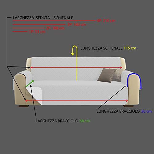 KasaShop COPRIDIVANO/SALVADIVANO Deluxe Imbottito, Reversibile Doubleface Copertura Divano (Bordeaux, Divano 3 Posti)