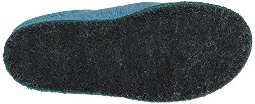 Haflinger - Kreta, Pantofole Unisex – Adulto Blau (reseda)