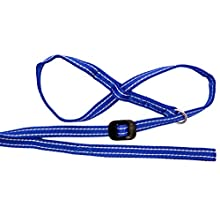 Gencon All in one Headcollar Lead Not Clip To Anti Stop Pull Soft Fits All Dog (Blue/White, Left Handed)