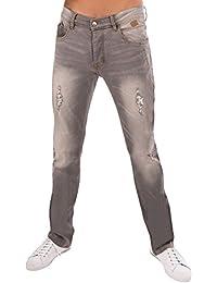 Jeans regular homme gris coton