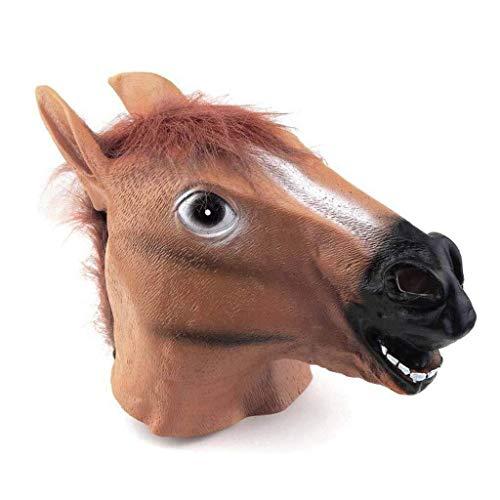 Kostüm Stil Kinder Gangnam - WANG XIN Pferdekopf Maske for Erwachsene, Gangnam Stil langlebig Latex Tier kostüm Cosplay Spielzeug for jeden anlass, Thema Party, Geburtstagsfeier