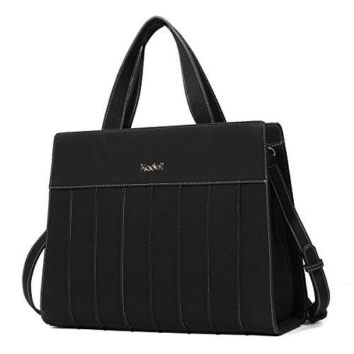 (Kadell Frauen stilvolle Designer Handtaschen für Damen Matte PU Leder Große Schultertasche Schwarz)
