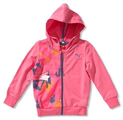 Puma Veste de survêtement Jacke Pumaschool Sweat Jacket, - Rose azalée/fjord côtier, 128
