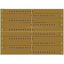 ClubKing - Pulsera de vinilo (50 unidades), color dorado