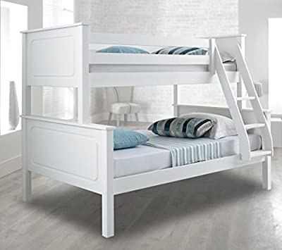 Happy Beds Vancouver Bunk Bed Triple Sleeper Solid Pine Frame Mattresses - inexpensive UK light shop.