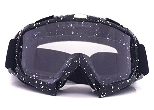 Motocross-Brille Ski-Schutzbrille Schutzbrille Helm Riding Brille , black