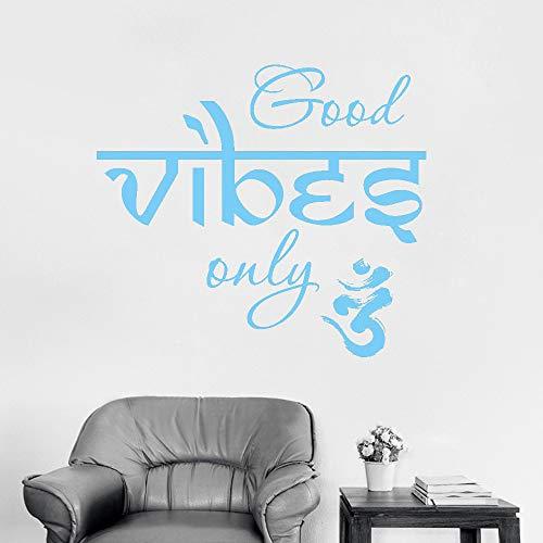 Abba Öl (Ajcwhml Yoga Vinyl Aufkleber Meditation Abziehbilder Schlafzimmer Schlafsaal Kunst Tapete heißer 63cm x 56cm)