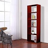 Vogue Bookshelf, Brown - H 1800 mm x W 600 mm x D 300 mm