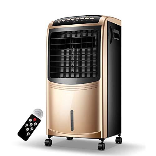XPfj Ohne Schlauch Luftkühler,Kühlung Heizung Klimaanlage, Kompakter Arctic Air Timer Mit LC Display Wohn Büro Air Condition Champagner Gold -