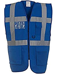 YK002 Men's Multi-functional Executive Hi-vis Waistcoat (HVW801) YOKO Pen Pockets and Key Holder