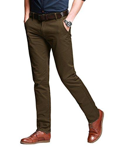Match Herren Slim Casual Hose #8050 8106 Dunkel khaki