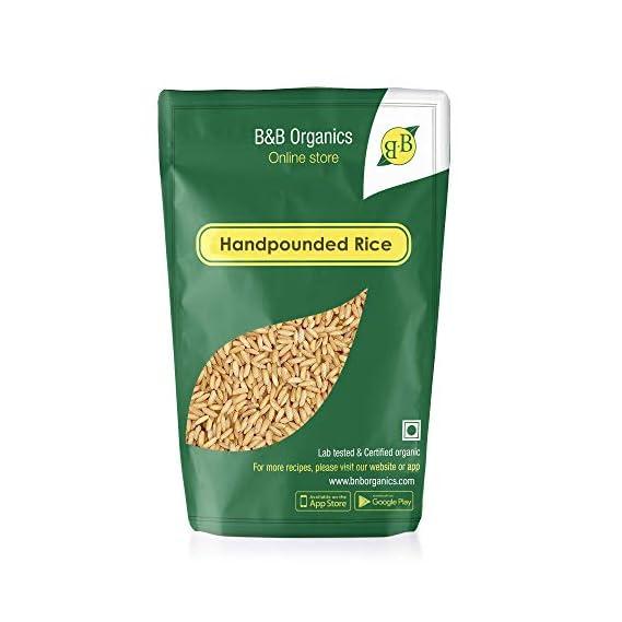 B&B Organics Hand Pounded Ponni Brown Rice, 1 kg