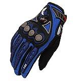 GLOVESCOA Motorrad Handschuhe Schutzausrüstung Herren Motocross Handschuhe Guantes Unisex Profi Racing Handschuhe Moto Handschuhe, Blau, M