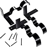 2 Juegos de Soporte de Barra de Cortina Doble Soporte de Pared de Coratina Ajustable para Uso de Habitación de Hogar Ventana Marco Pared, Negro