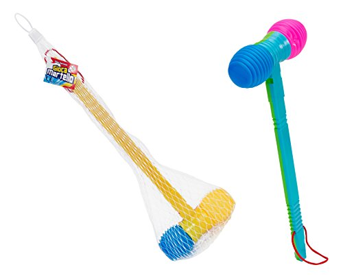 globo-toys-globo-36710-365-x-13-cm-2-assorted-summer-hammer-with-whistle