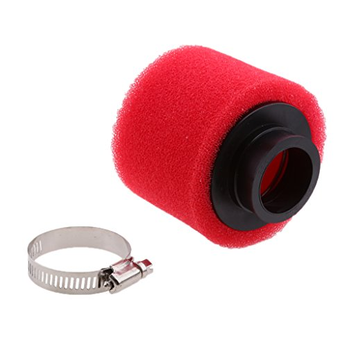 Dolity Red Foam Air Filter for ATV Quad Pit Dirt Bike Motorcycle 90/110/125cc - Red, 38mm
