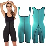 Women Full Body Ultra Sweat Neoprene Shaper Enhancing Thermal Sport Wear Gym Fitness Bodysuit for Weight Loss or Muscle Building (XL)