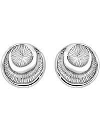 Jorge Revilla Plata Button Stud Pendientes - Rhodium Plated