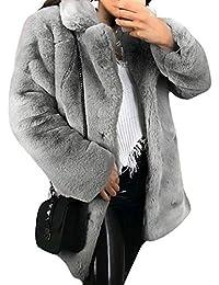 damen mantel grau mit pelzkragen