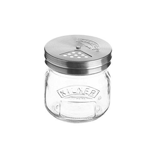 Kilner Streudose 250ml–Vintage-Stil, Gewürzstreuer für Parmesankäse, Kräuter und Gewürze