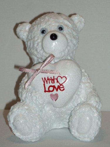 amour-teddy-bear-neige-tombe-decoration-dexterieur-en-forme-de-rose-