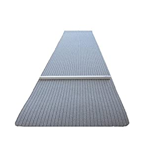Dartteppich 66 x 280 cm grau Steeldart Dartmatte hochwertig robust mit Oche