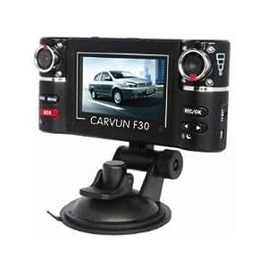 F30 double objectif IR Fahrzeug-Dash Cam tableau de bord mini caméra DVR