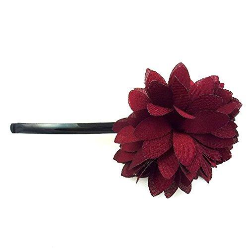 rougecaramel - Accessoires cheveux - Mini pince fleur - bordeaux