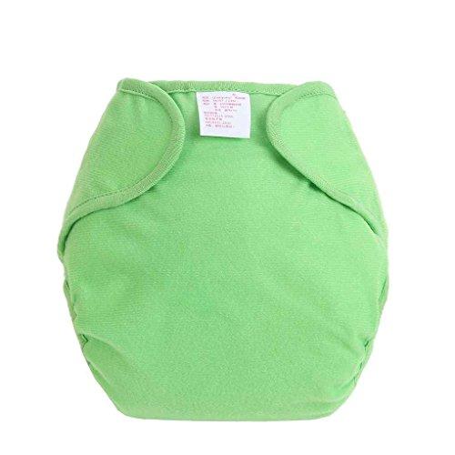 Vkospy Bambusfaser Baby-Windel-Kind-Tuch-Windel-Mehrwegwindeln Adjustable Windel-Abdeckung waschbar daiper