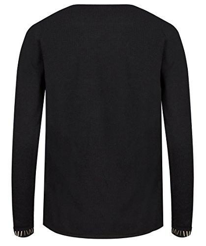 Josh v - Sweat-shirt - Col V - Manches Longues - Femme Schwarz
