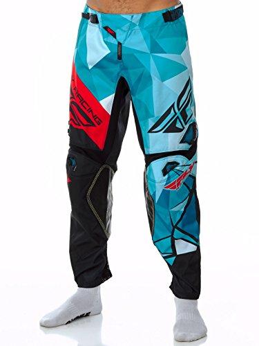 Pantaloni Motocross Fly Racing 2017 Kinetic Crux Teal-Nero-Rosso (36 Vita = Eu 50 , Blu)