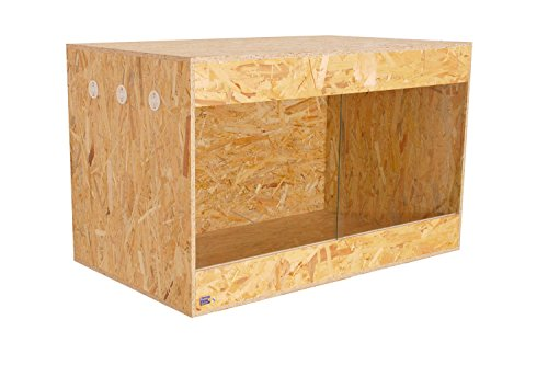 OSB Holzterrarium mit Seitenbelüftung 100x60x60cm