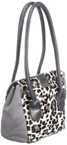 Poodlebags Funkyline - natural wild - Saturday - 3FU0212SATUW, Damen Henkeltaschen, 21 x 9 x 21 cm (B x H x T) Weiss (White)