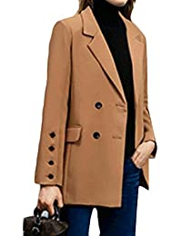 Generic Womens Casual Lapel Double-Breasted Long Sleeve Blazer