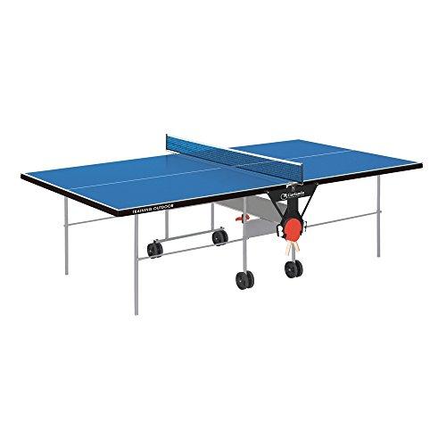 GARLANDO TRAINING OUTDOOR BLU Tavolo ping pong per uso esterno + 4 racchette + 12 palline in Omaggio