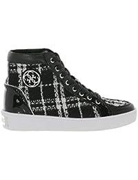 Guess Scarpe Donna Sneaker Zeppa Grace Tartan Black White FLACE3FAB12 8e01188b2f6