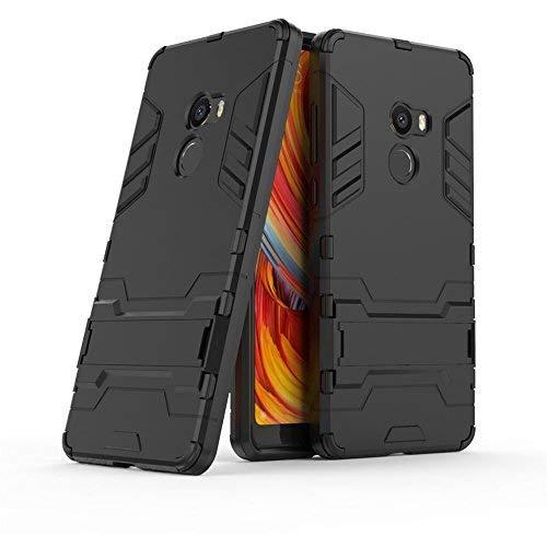 GOGME Funda para Xiaomi Mi Mix 2, Soporte Plegable Case, Negro