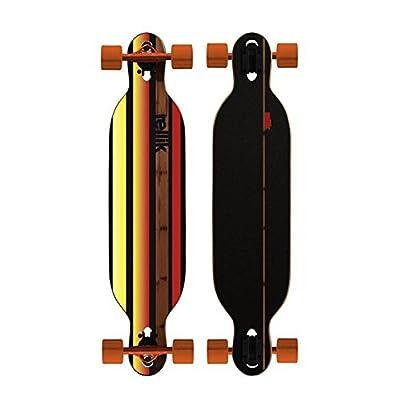 "Rellik Longboard Straightline bamboo Drop through twin Tip 38 x 8,5 """