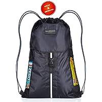 Premium Quality 5 Pocket, Wasserdichte, Turnbeutel Hipster Unisex Sporttasche Rucksack Schwimmen Sackpack Sporttasche PE Sporttasche w / Reflektierende Band Wandern Tasche für Erwachsene und Kinder