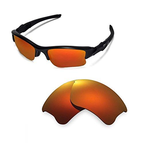Walleva Ersatz Objektive Objektive/Gummi Kit Oakley Flak Jacket XLJ Sonnenbrille-48Optionen - rot -