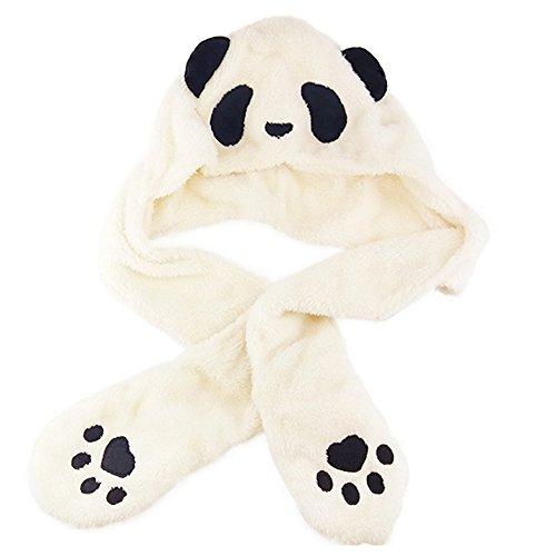 Panda Hut Erwachsene Kinder Jungen Mädchen Schal Handschuhe Eltern-Kind Mütze, (Kostüme Billig Kontakte)