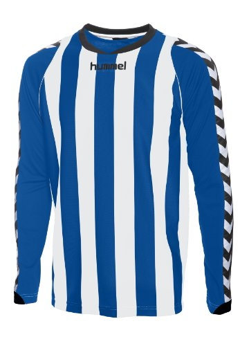 Hummel Herren Trikot BEE AUTHENTIC Long Sleeve STRIPE JERSEY, true blue/white, XL (Streifen-true Blues Shirt)