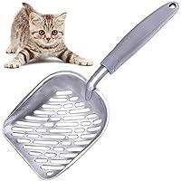 danspeed alta calidad aluminio 35* 14cm de goma pala limpieza jardín Pet Cat Litter Pala Herramienta