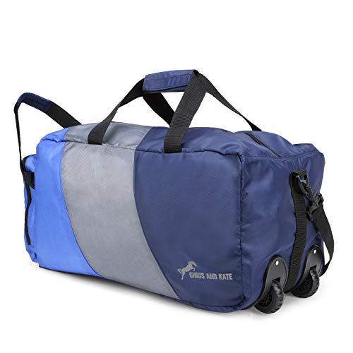 Chris & Kate Blue-Grey 50 litres Foldable Polyester Duffle Bag...
