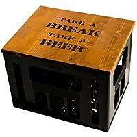 Geschenkidee Geburtstagsgeschenk Bierkastensitz Bierkistensitz Sitzauflage Bierkiste Bierkasten Sitz Hocker Holz Handmade Hipster mit Motiv TAKE A BREAK