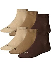 6 pair Puma Sneaker Quarter Socks Unisex Mens & Ladies In 3 Colours, Farben:717 - chocolate/walnut/safar;Größe Bekleidung:M