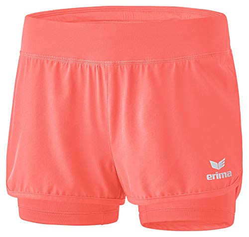 Tennis-damen Shorts (Erima Damen Masters 2 in 1 Short - Koralle hot Coral, 42)