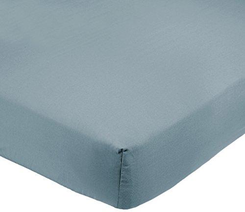 AmazonBasics Drap-housse en microfibre Bleu spa 200x200x30cm