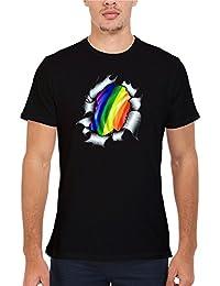Gaypride LGBT Gayman Super Hero Novelty Femme Homme Men Women Unisex Top T Shirt